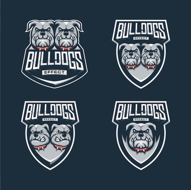 Diseño de esports con logo de bulldog