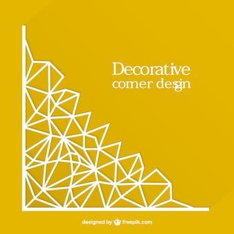 Diseño de esquina decorativa vectorial