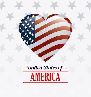 Diseño de los estados unidos de américa.
