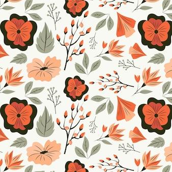 Diseño de estampado floral en tonos melocotón.