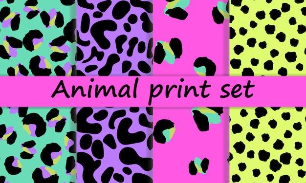 Diseño de estampado de leopardo. patrón de piel animal.