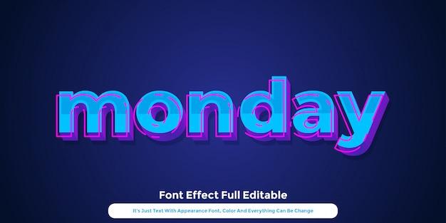 Diseño de estilo gráfico de texto 3d de neón holograma