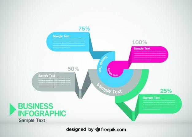 Diseño de estilo origami de infografía de negocios
