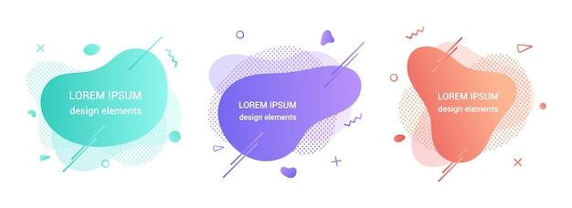 Diseño de estilo plano degradado gráfico elemento abstracto líquido moderno