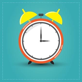 Diseño de estilo plano de reloj despertador