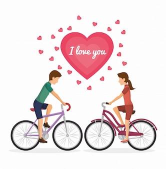 Diseño de estilo de vida de la bicicleta
