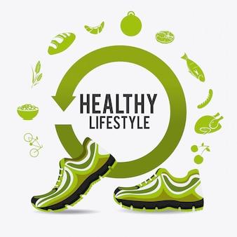Diseño de estilo de vida de fitness.