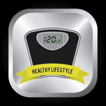 Diseño de estilo de vida saludable.