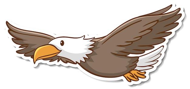 Diseño de etiqueta con un águila aislado.