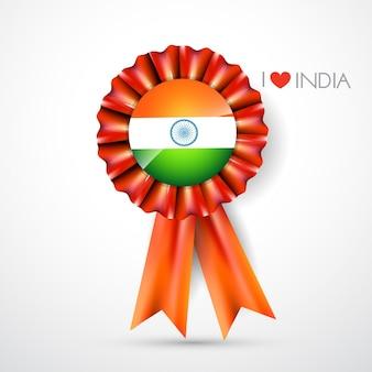 Diseño de etiqueta de la bandera de la india