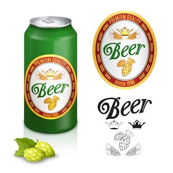 Diseño de etiqueta de cerveza premium