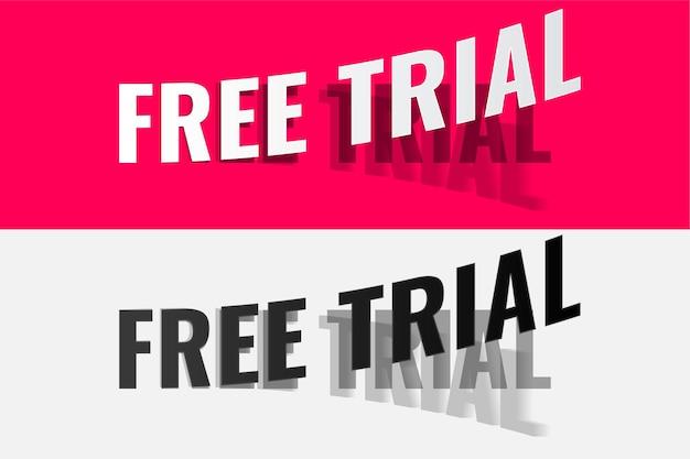 Diseño de etiqueta despegable de prueba gratuita