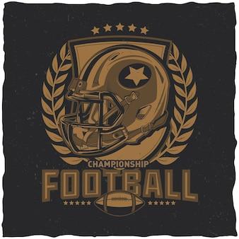Diseño de etiqueta de fútbol americano