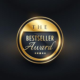 Diseño de etiqueta de insignia de premio de mejor vendedor para su producto