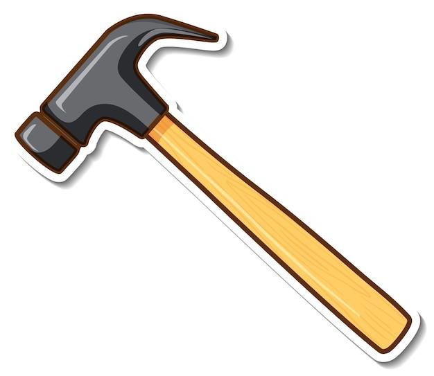 Diseño de etiqueta con martillo de garra aislado