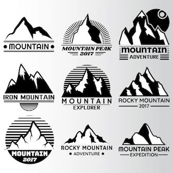 Diseño de la etiqueta de la montaña