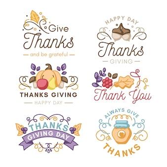 Diseño de etiqueta vintage de acción de gracias