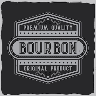 Diseño de etiqueta vintage con composición de letras en la oscuridad. diseño de camiseta.