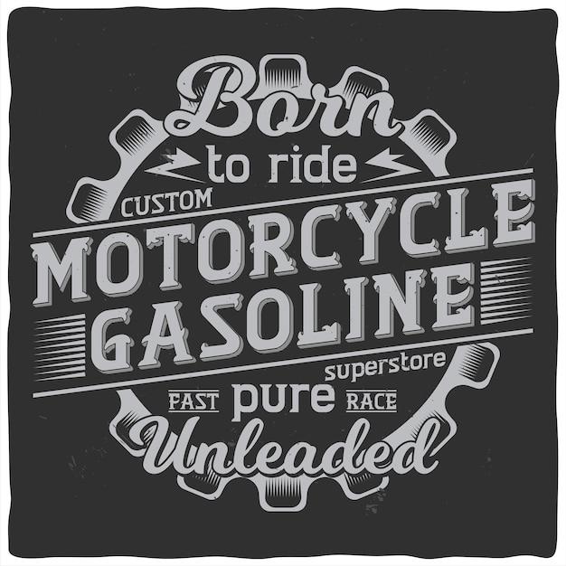 Diseño de etiqueta vintage con composición de letras