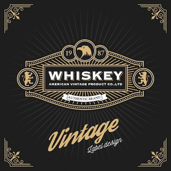 Diseño de etiqueta de whiskey