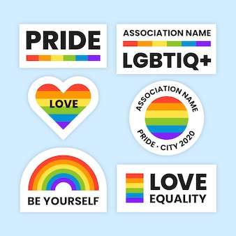 Diseño de etiquetas para la celebración del día del orgullo