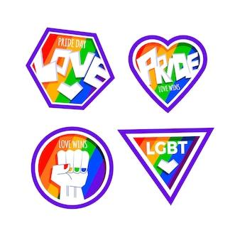 Diseño de etiquetas de celebración del día del orgullo