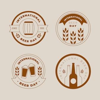 Diseño de etiquetas del día internacional de la cerveza
