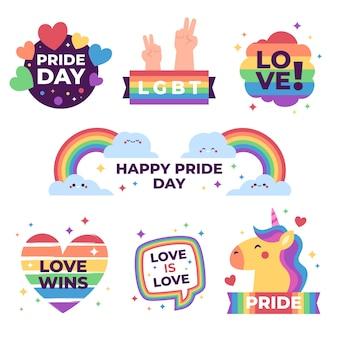 Diseño de etiquetas para el día del orgullo