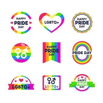 Diseño de etiquetas del día del orgullo
