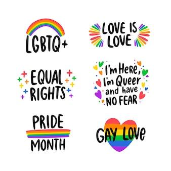 Diseño de etiquetas evento del día del orgullo