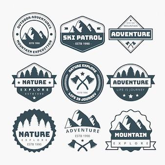 Diseño de etiquetas de montaña