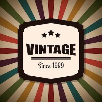 Diseño de etiquetas retro y vintage.