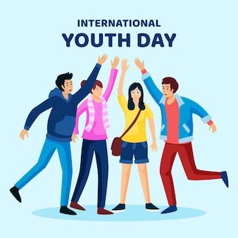 Diseño del evento del día de la juventud.