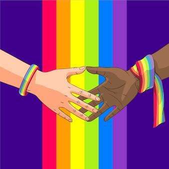 Diseño del evento del día del orgullo