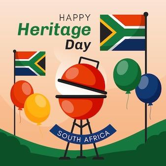 Diseño del evento del día del patrimonio