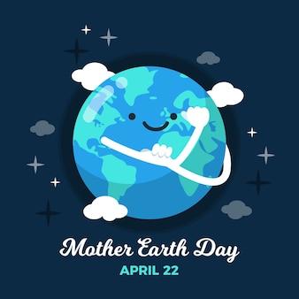 Diseño del evento internacional del día de la madre tierra