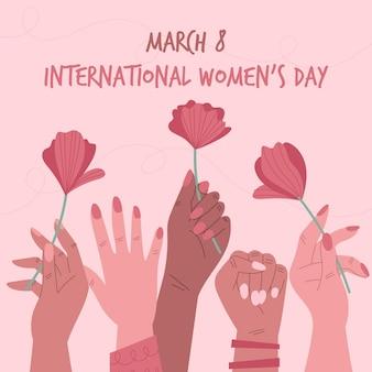 Diseño de eventos del día internacional de la mujer.