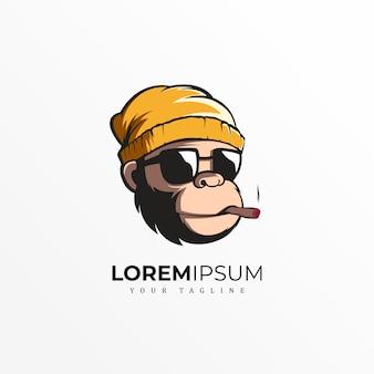 Diseño exclusivo del logotipo del mono premium