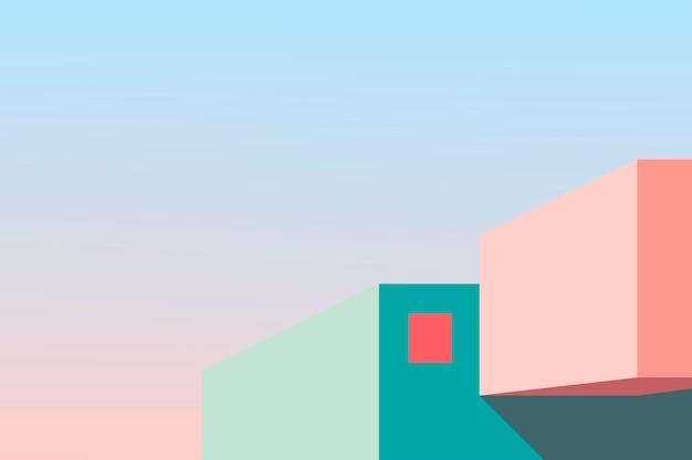 Diseño exterior minimalista de la casa