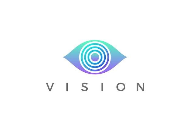 Diseño de eye logo vision. seguridad video foto optica lente logotipo espía.