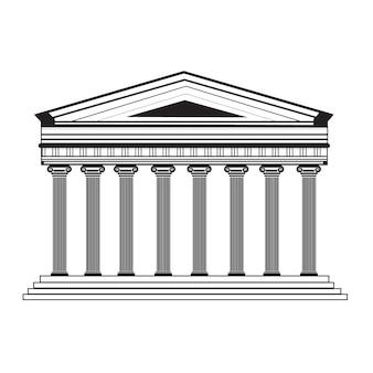 Diseño de fachada del partenón