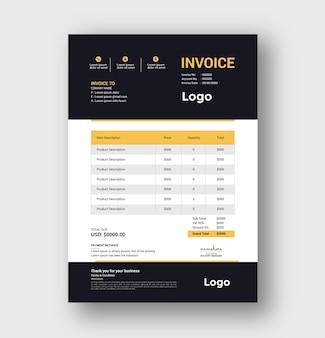 Diseño de factura creativa y plantilla de cotizaciones de facturación
