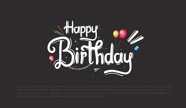 Diseño de feliz cumpleaños para fondo, pancarta y tarjeta de invitación