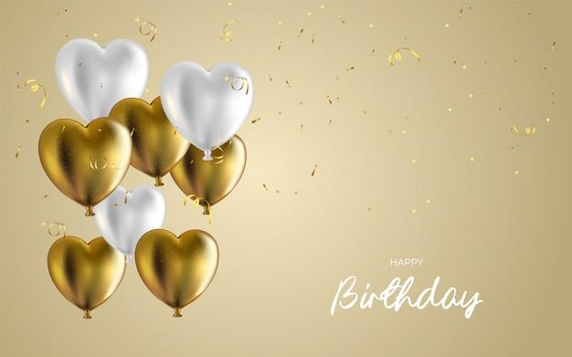 Diseño de feliz cumpleaños para tarjetas de felicitación e invitación, con confeti.