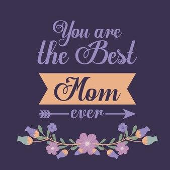 Diseño feliz del día de madres