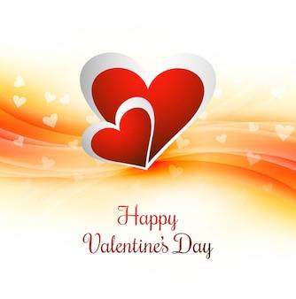 Diseño feliz elegante del corazón de la tarjeta del amor del día de san valentín
