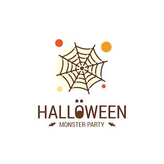 Diseño feliz halloween con tipografía y fondo blanco