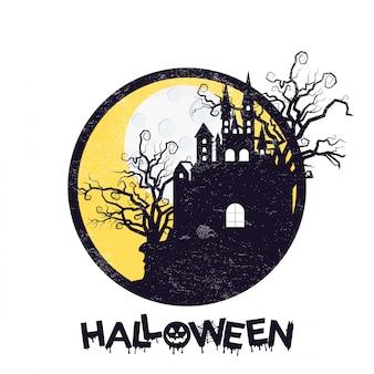 Diseño feliz halloween con tipografía