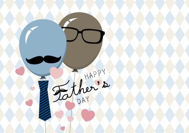 Diseño feliz de la tarjeta del día de padre