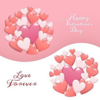 Diseño feliz de la tarjeta de felicitación del día de tarjeta del día de san valentín